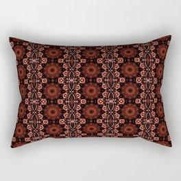 Deep Red Abstract Pattern Rectangular Pillow