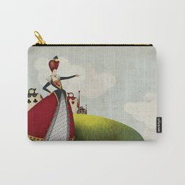 Off with their heads Queen of hearts from Alice in Wonderland Carry-All Pouch