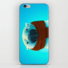 Polar bear with scarf iPhone & iPod Skin