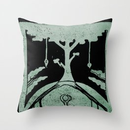 Grounding (Black) Throw Pillow
