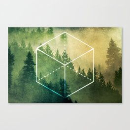 The Elements Geometric Nature Element of Earth Canvas Print