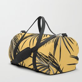 Black Palm Leaves Dream #6 #tropical #decor #art #society6 Duffle Bag