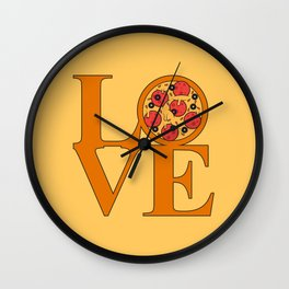 Love Pizza Wall Clock