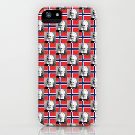 flag and portrait: Ibsen iPhone Case