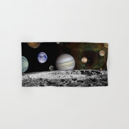 Solar System View from the Moon Hand & Bath Towel
