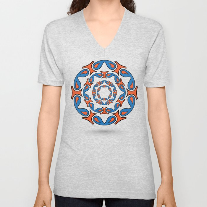 abstract mandala tribal Unisex V-Neck