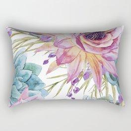 FLOWERS WATERCOLOR 19 Rectangular Pillow