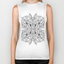Botanical Symmetry 3 Biker Tank