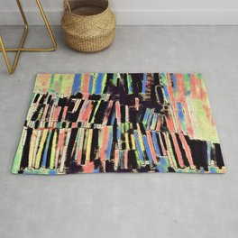 Stacked Stripes in Licorice All Sorts Colors Rug