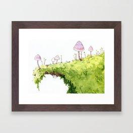 Mushrooms and Moss Framed Art Print