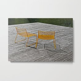 Yellow chairs Metal Print
