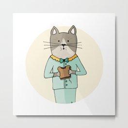 Cat Sandwich Metal Print