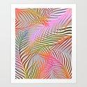 Palm Leaves Pattern - Pink, Gray, Orange by sewzinski