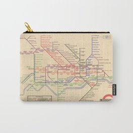 Vintage London Underground Map Carry-All Pouch