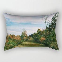 Path through the Field Rectangular Pillow
