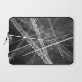 Jet vapour trails in a dark sky Laptop Sleeve