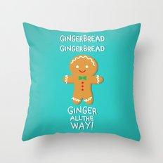 Gingerbread Throw Pillow
