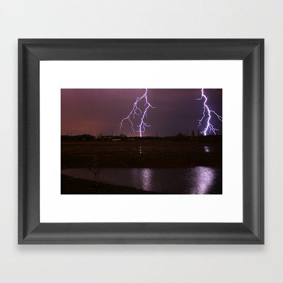 Twin Light Framed Art Print
