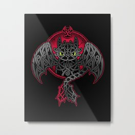 Viking Fury // Dragon, Celtic Knotwork, Norse, Night Fury Metal Print