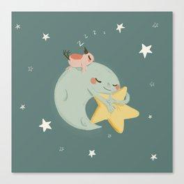 Moon Nap Canvas Print