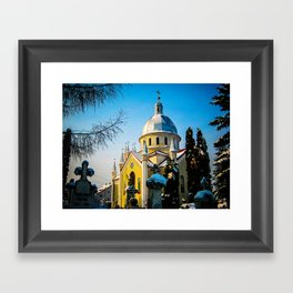 Orthodox Church in Brasov, Romania Framed Art Print