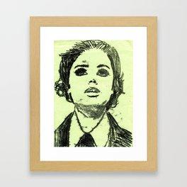 Monoprinted Woman Framed Art Print
