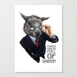 Full Of Sheep Canvas Print