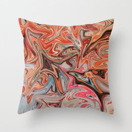 Fireworks in Summer Throw Pillow