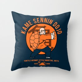 Kame Dojo Throw Pillow