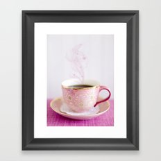 Love my coffee Framed Art Print