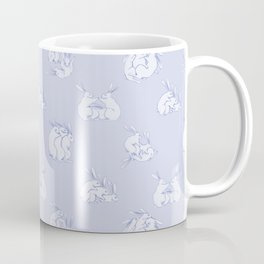Bunny Threesome - Blue Print Coffee Mug