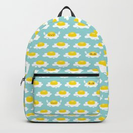 Sunny Side Up! / Print / Blue Backpack