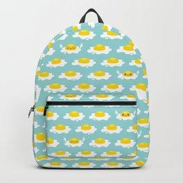 Sunny Side Up! / Print / Blue Backpack