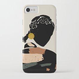 Black Hair No. 12 iPhone Case