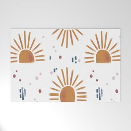sunbursts Welcome Mat