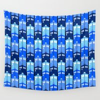 tardis Wall Tapestries featuring Tardis by Casual Glitz