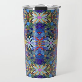 Garden Party - Blue Travel Mug