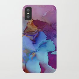 Alcohol Ink Flowers iPhone Case