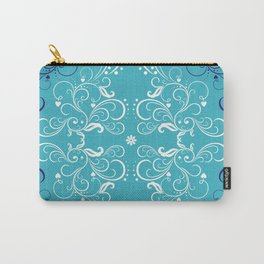 Repeatable flower leaf blue Carry-All Pouch
