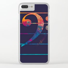 Bass Clef Color Clear iPhone Case