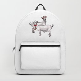 Couple Goat Funny Cute Goat Owner Animal Gift Backpack