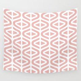 Mid Century Modern Split Triangle Pattern Dusty Rose Wall Tapestry