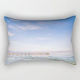 Watercolor Sunset at Okaloosa Island Pier Rectangular Pillow
