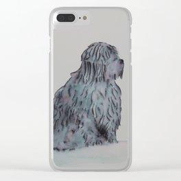 Tibetan Terrier Sitting Clear iPhone Case