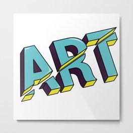 Art cut out design Metal Print