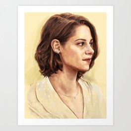 Kristen Stewart as Vonnie Art Print