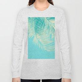 Palm Leaves Summer Vibes #4 #tropical #decor #art #society6 Long Sleeve T-shirt
