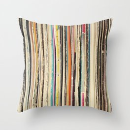 Record Collection Throw Pillow
