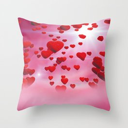 Sky is full of love Throw Pillow