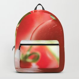 Italian tomatoes in green light Backpack